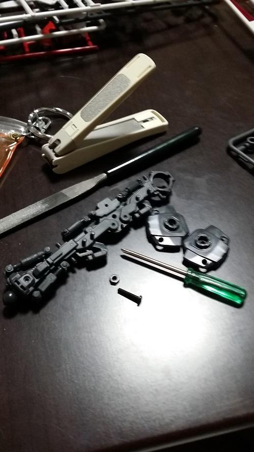 マスターグレード 1/100  ガンダム Ver.1.5 脚制作 工具 ガノタな父のブログMK-弐