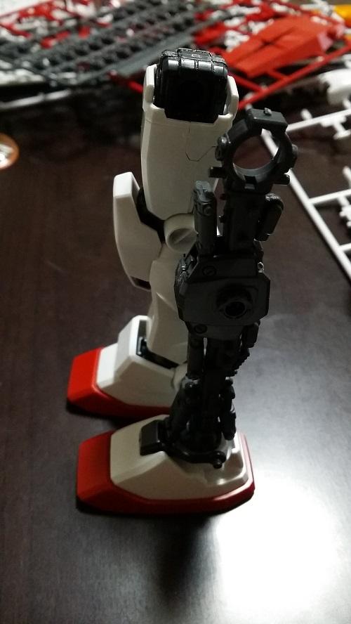 マスターグレード 1/100  ガンダム Ver.1.5 脚制作 外装有り無しその1 ガノタな父のブログMK-弐