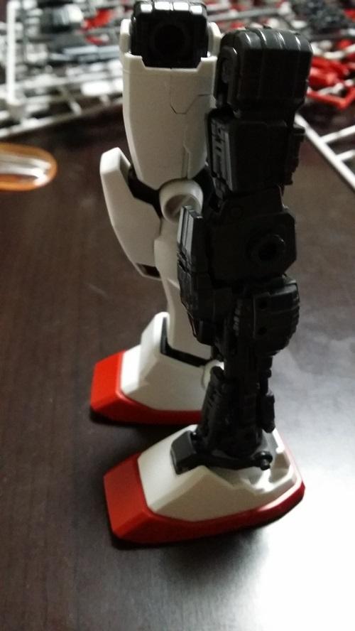 マスターグレード 1/100  ガンダム Ver.1.5 脚制作 外装有り無し 膝パーツ取り付け ガノタな父のブログMK-弐