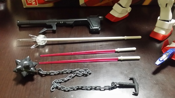 MGガンダム1/100 Ver.1.5 武器|ガノタな父のブログ