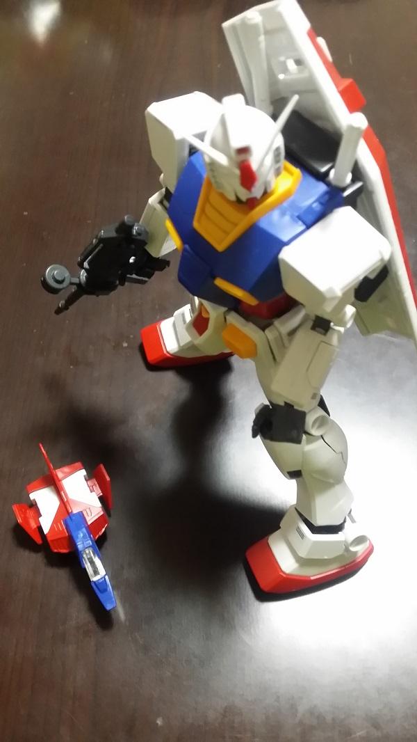 MGガンダム1/100 Ver.1.5 ガンダムとコアファイター|ガノタな父のブログ