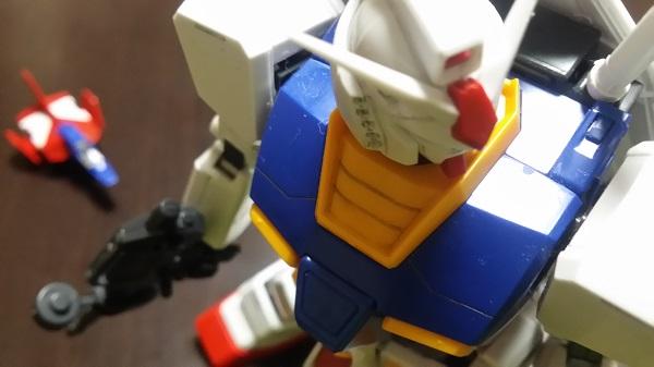 MGガンダム1/100 Ver.1.5 バックにコアファイター|ガノタな父のブログ