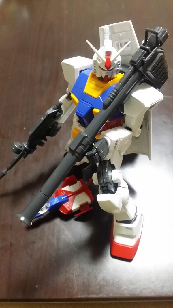 MGガンダム1/100 Ver.1.5 膝つきポージング|ガノタな父のブログ