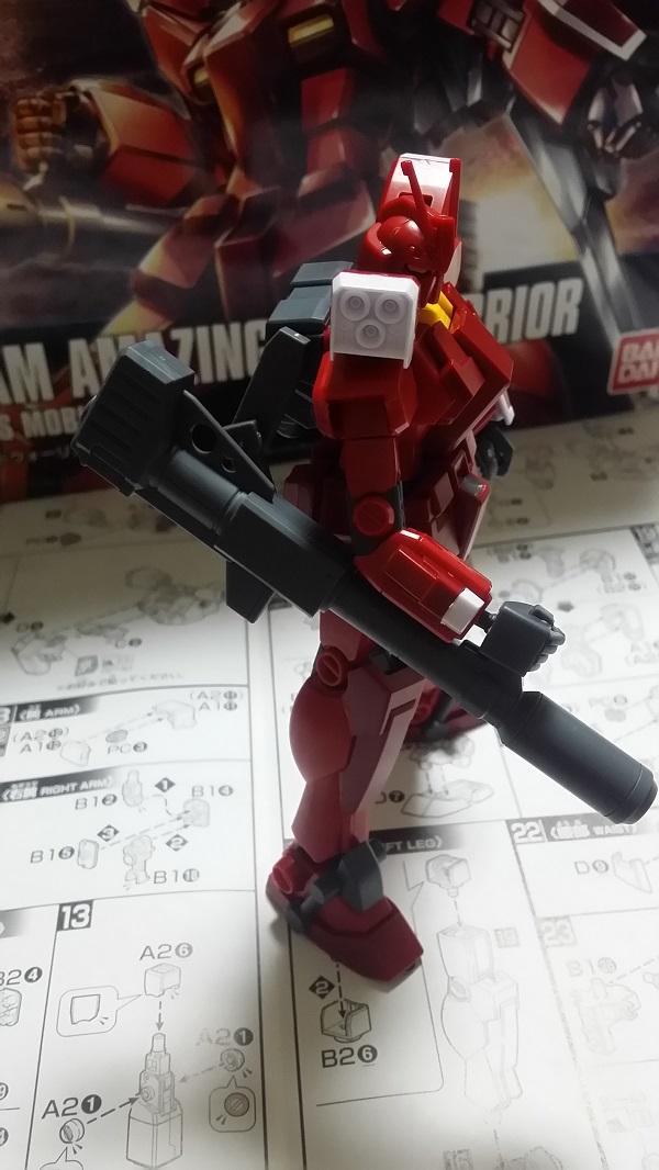 HGBF 1/144 ガンダムアメイジングレッドウォーリア作成 バズーカ砲 プラモ狂四郎スタイル